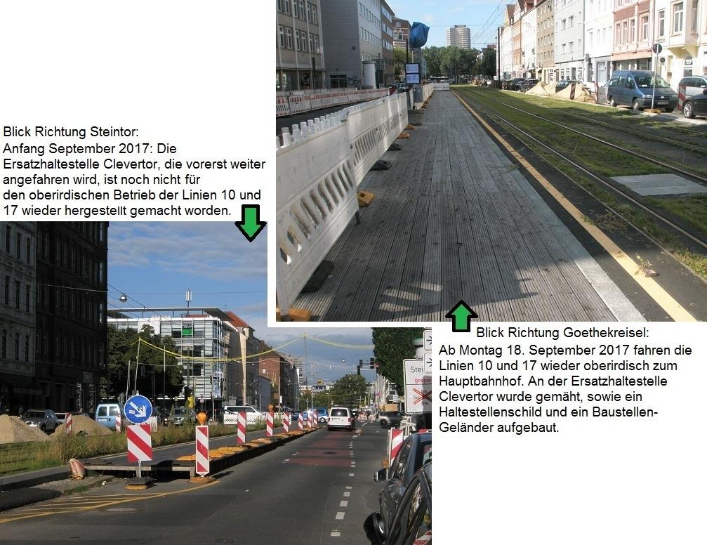 Proj 10 17 Ersatzhaltestelle Clevertor Anf Sep 17 und Mitte Sep 17.jpg