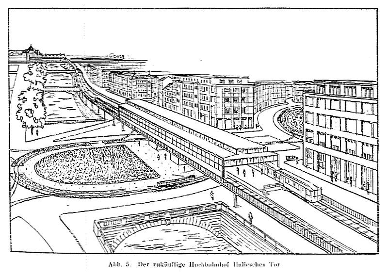 Hallesches Tor Hochbahnhof Projekt 1929.jpg