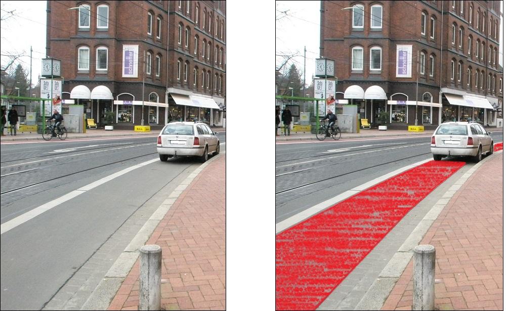 Radweg vor Lindener Rathaus mit und ohne Rotfärbung ohne Radsymbol.jpg