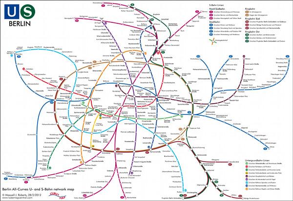 Berlin s Bahn u Bahn Netz S-bahn-plänen Von Berlin