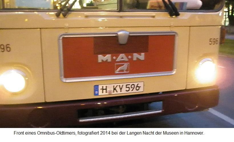 2014 Lange Nacht der Museen in Hannover - Oldtimer-Omnibus-Front.jpg