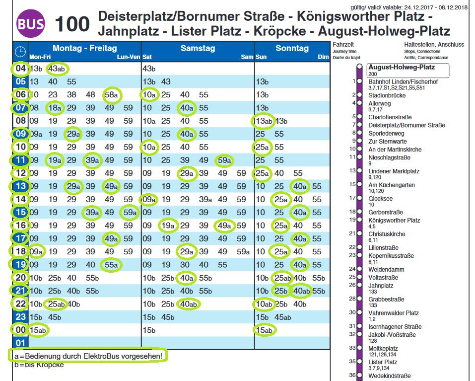 Solaris E-Bus Hannover Aushang-Fahrplan 2018.jpg