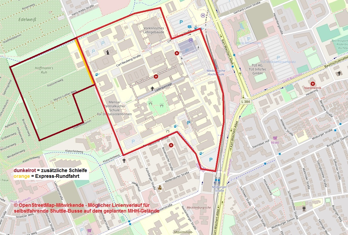 MHH Neubau Steinfelddamm ÖPNV selbstfahrende Busse-Linie Zusatzschleife.jpg