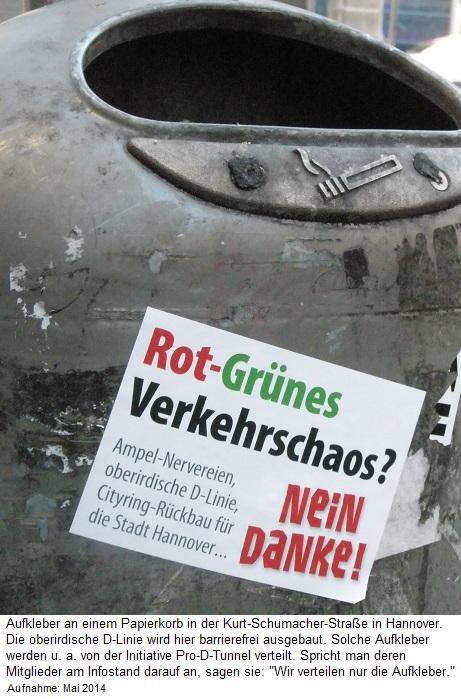 2015 Mai Illegale Aufkleber gegen den barrierefreien Ausbau der Stadtbahnlinien 10 und 17 in Hannover.jpg