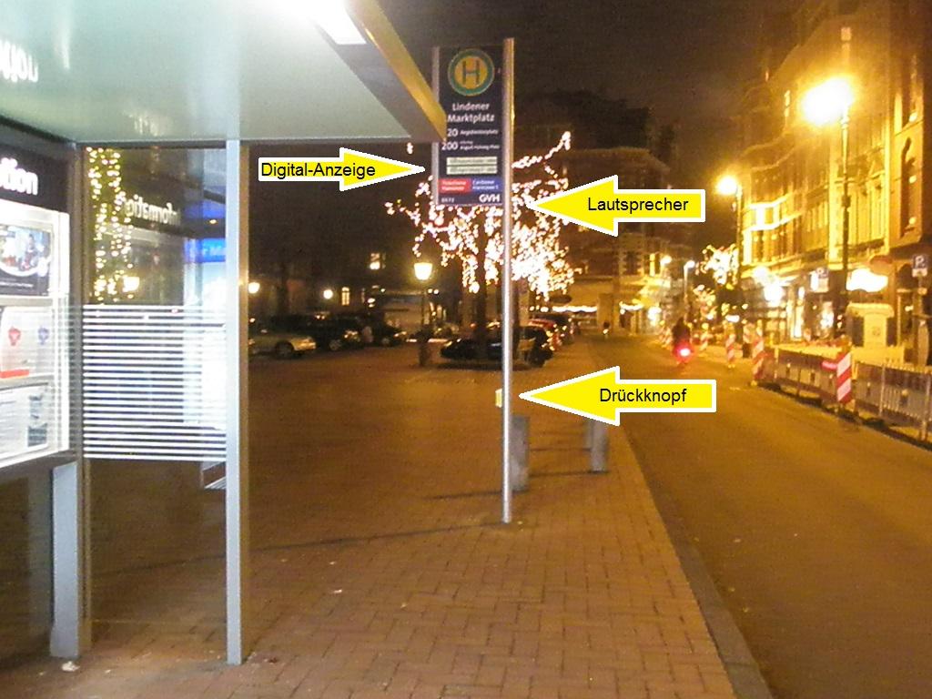 Haltestelle mit Sprach-Ansage Lindener Marktplatz Dez 16.jpg