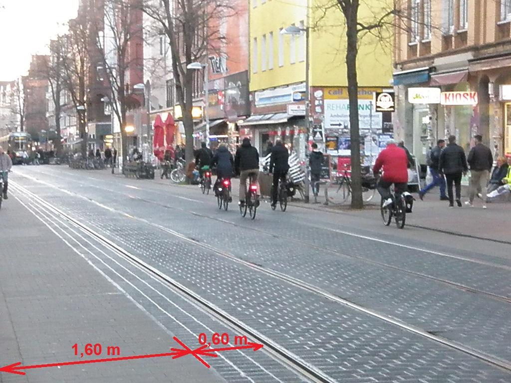 Linie 10 auf der Limmer Fahrräder im Gleisbereich mit Breitenangaben.jpg