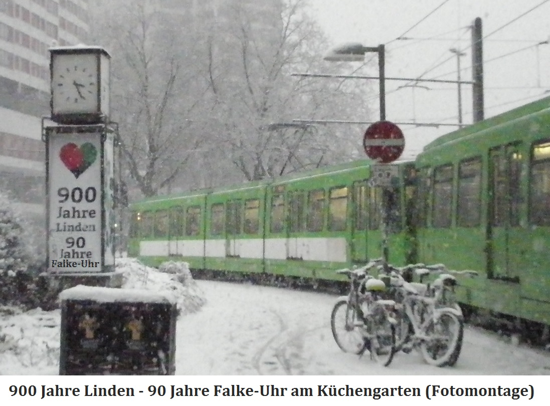 201601 Uhrensäule - 90 Jahre Falke-Uhr am Küchengarten B.jpg
